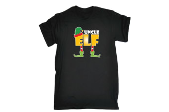 123T Funny Tee - Elf Uncle - (XX-Large Black Mens T Shirt)