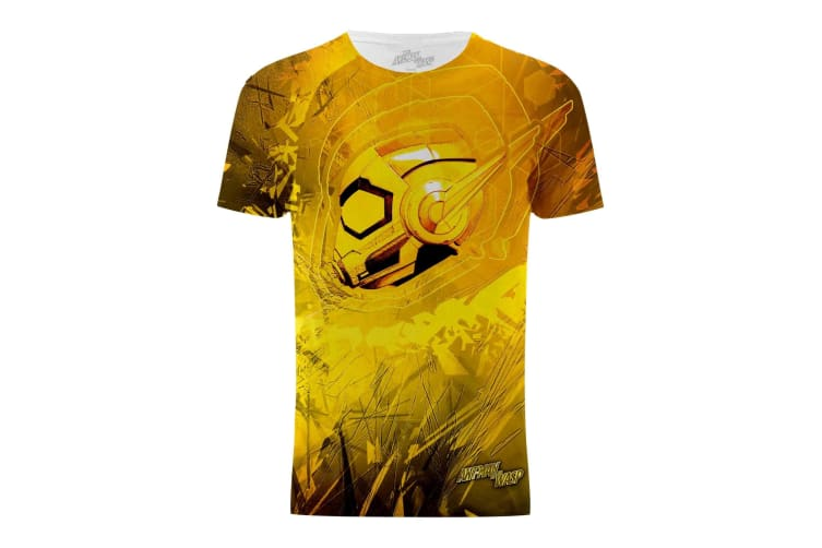 Ant-Man And The Wasp Mens Wasp Head Graphic T-Shirt (Yellow) (S)