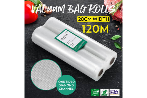 20 Rolls 28cm*600cm Vacuum Seal Bags(total 120M) Foodsaver Rolls Embossed Food Saver Bag