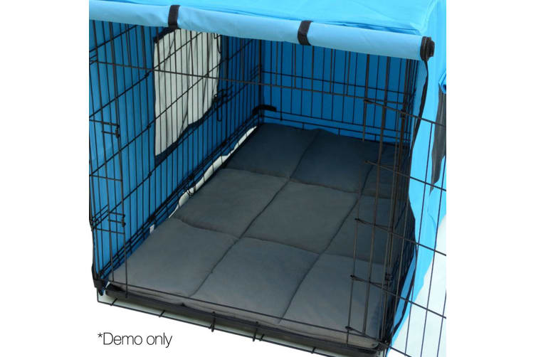 i.Pet 48inch Metal Collapsible Pet Cage Cushion - Black