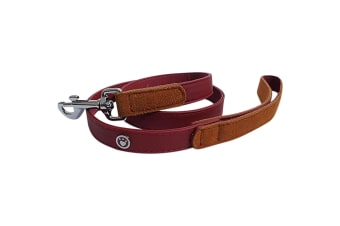 Luxury Leather Dog Lead (Red) (40in)
