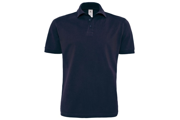 B&C Mens Heavymill Short Sleeve Cotton Polo Shirt (Navy) (2XL)