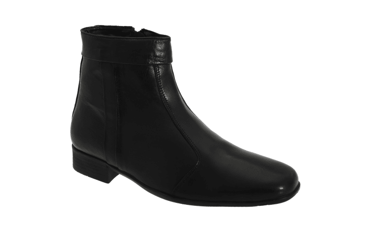 Scimitar Mens Inside Zip Pleated Ankle Boots (Black) (11 UK)