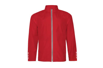 AWDis Just Cool Adults Unisex Showerproof Running Jacket (Fire Red)
