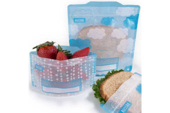 Russbe Snack and Sandwich Bags Set of 4 Clouds
