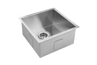 Stainless Steel Kitchen/Laundry Sink with Strainer Waste 440 x 440 mm
