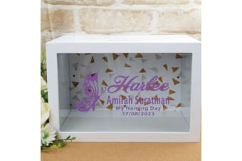 Personalised Naming Day Wishing Well Card Box