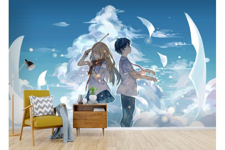 3D Your Lie In April 070 Anime Wall Murals Woven paper (need glue), XL 208cm x 146cm (WxH)(82''x58'')