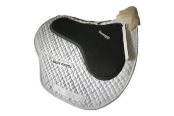 Majyk Impact Horse Wither Relief Non Slip Jump Pad (White)