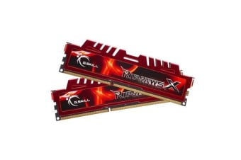 G.SKILL RIPJAWS X Desktop DDR3 8GB (2x4GB) DDR3 1600MHz RED F3-12800CL9D-8GBXL (PC3 12800) 240-Pin