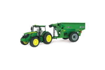 John Deere 1:16 6210R Tractor w/ Frontier Grain Lights/Sounds/Toy/Kids/Children