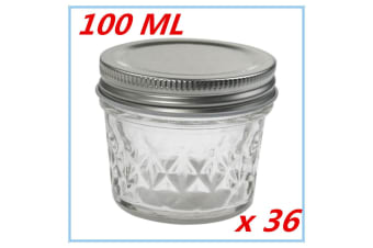 36 x SMALL QUILTED CONSERVE JAM CANDLE MAKING GLASS JARS JAR 100ML CANDY PARTY