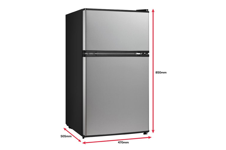 Kogan 91L Top Mount  Fridge -  Stainless Steel