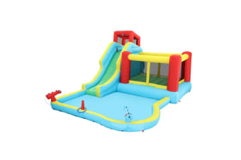 All In 1 Inflatable Water Park Water Slide Cannon Climbing Bouncer Castle Football