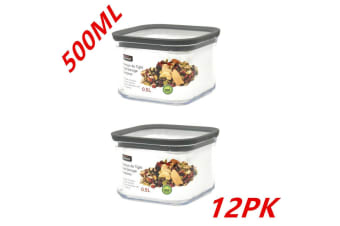 12 x Pantry Storage Food Containers 500ML Bin Canister Kitchen Organizer Jars