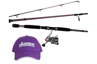 Okuma Temptress Ladies Fishing Rod and Reel Combo - 2 Pce Spin Combo (6'6/4-7kg/30 Reel)