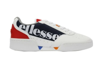 Ellesse Women's Piacentino Leather AF Shoe (White/Navy, Size 7 US)