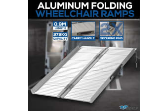 NEW 0.9m 272KG Folding Wheelchair Ramp Portable Scooter Aluminium Loading Ramps