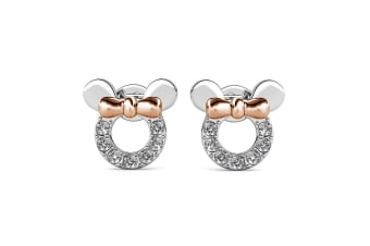Minnie Mouse Earrings Embellished with Swarovski crystals