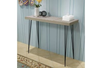vidaXL Console Table 90x30x71.5 cm Grey