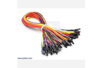 Premium Jumper Wire 50-Piece Rainbow Assortment M-F 12""