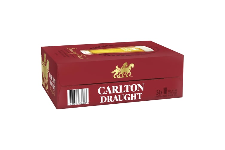 Carlton Draught Beer 24 x 375ml Cans