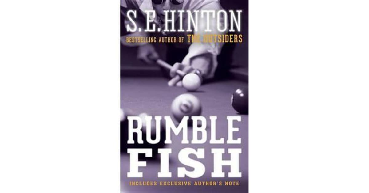 analysis of rumble fish by s e The writing is mostly good, but 'rumble fish' seems to be missing a real plot the film substitutes hypnotic cinematography and cool scenery for an easy-to-follow plot, which in my opinion is a big mistake.