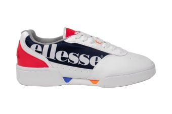 Ellesse Men's Piacentino Leather AM Shoe (White/Navy/Red, Size 10.5 US)