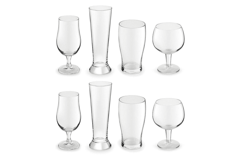 8pc Royal Leerdam Artisan Beer Glass Cocktail Drinks Combination Set Party Bar