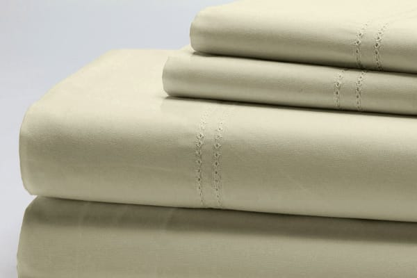 Style & Co 1000TC 100% Egyptian Cotton Essex Bed Sheet Set (King, Vanilla)