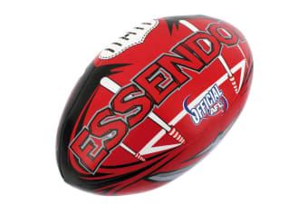 Summit AFL Essendon Bombers 20cm Large/Soft Rugby Ball Play/Game Kids/Boys