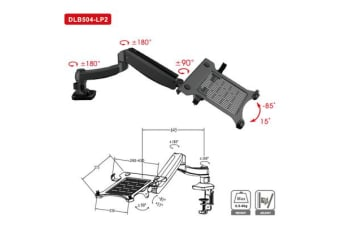 "Loctek DLB504-LP2 10.1""-17.3"" Laptop Notebook Stand Riser"