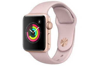APPLE WATCH 42MM GOLD WITH PINK SAND SPORT BAND (6 MONTHS WARRANTY)