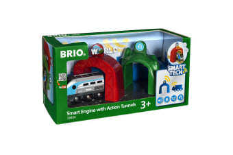 Brio Smart Tech Wooden Train Engine with Action Tunnels