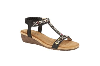 Cipriata Womens/Ladies Lia Sandals (Black) (3 UK)