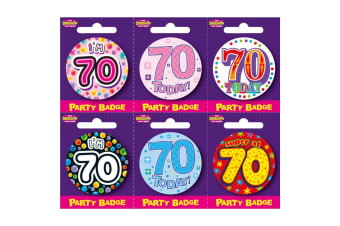 Expression Factory Birthday Badge Pack Of 6 (Multicoloured)