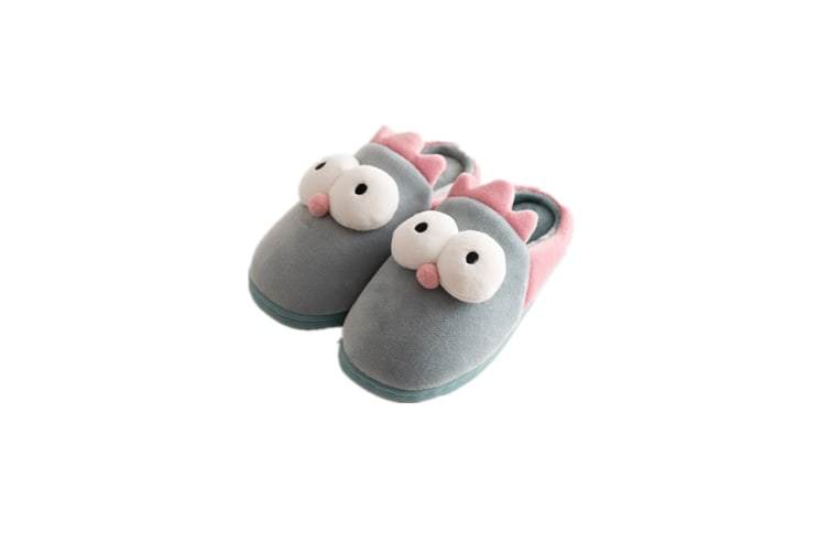 Unisex Cute Home Slippers Kid Fur Lined Winter House Slippers Warm Indoor Slippers - Sky Blue Blue 200(18Cm Length)