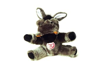 Interpet Limited Petlove Chatterbox Farmyard Donkey Plush Dog Toy (Black/Grey)