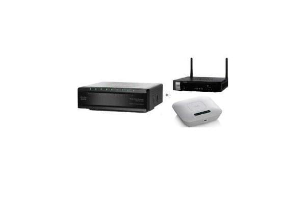 CISCO SMART OFFICE PLUG AND PLAY BUNDLE FOR 1 TO 20 USERS CAPACITY RV130 PLUS SG200 PLUS WAP121 (802.11N)