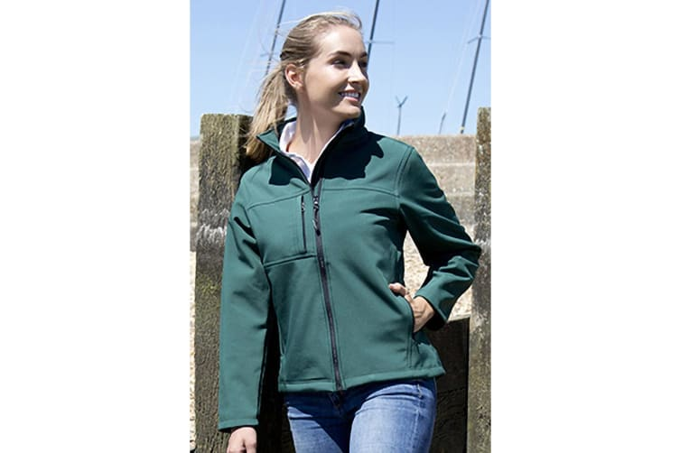 Result Womens Softshell Premium 3 Layer Performance Jacket (Waterproof  Windproof & Breathable) (Bottle Green) (S)