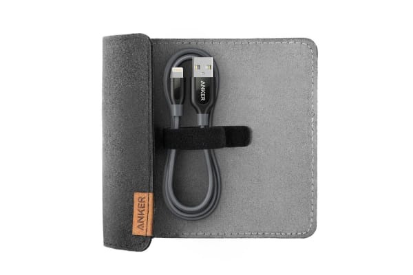 Anker PowerLine+ Lightning 1.8m Space Gray with Pouch (A8122HA1)