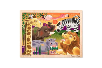 Melissa and Doug African Plains Jigsaw - 24 Piece