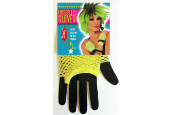 Silky Womens/Ladies Short Fishnet Gloves (1 Pair) (Neon Yellow) (One Size)