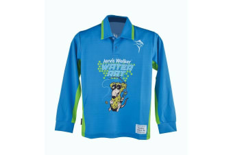 Blue Jarvis Walker Water Rats Kids Long Sleeve Fishing Shirt with Collar-UPF 45+ [Size: 8]