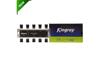 Kingray 8 way F-Type Splitter Foxtel Approved F30965 TV Antenna Accessories