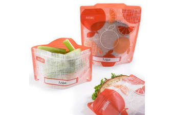 Russbe Snack & Sandwich Bag Set of 4 Orange Linen