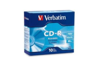 Verbatim CD-R 700MB 10Pk Slim Case 52x