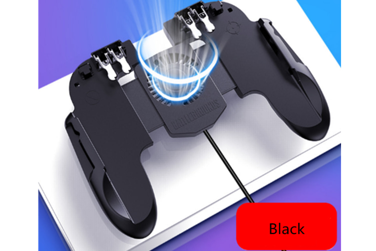 Select Mall H5 3-in-1 Grip Universal Tablet Eat Chicken Peace Elite Gamepad Wired Mobile Phone Gamepad-BLACK