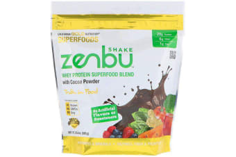 California Gold Nutrition Zenbu Shake Whey Protein Superfood Blend with Cocoa Powder 585g
