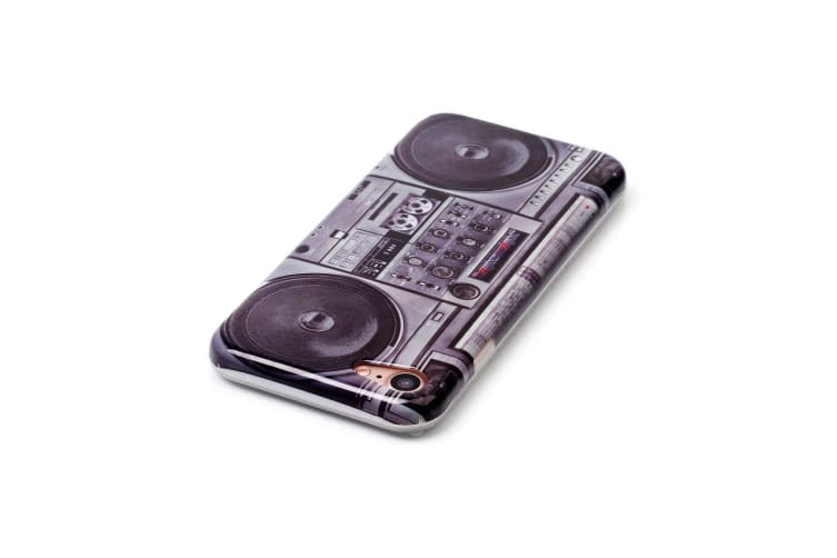 For iPhone 8 7 Case Elegant Retro Style Radio Grippy Durable Protective Cover